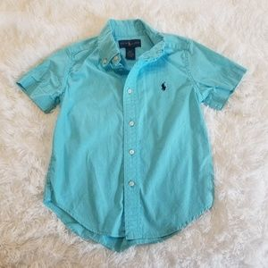 RALPH LAUREN BLUE SHIRT SZ 4.